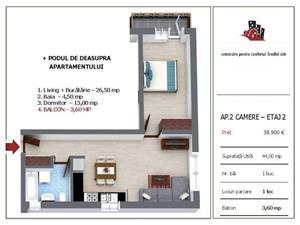 Apartament nou cu 2 camere in Selimbar