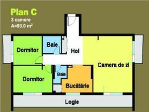 Apartament cu 3 camere in bloc nou cartier Hipodrom Sibiu