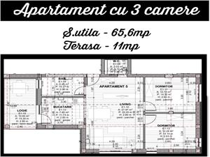 Apartament 3 camere, et 1 in Selimbar