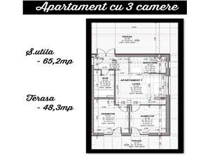 Apartament 3 camere, 2 terase in Selimbar