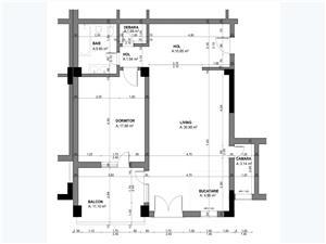 Apartament 2 camere, Tip 1, etajul 1-3, Balanta Residence Sibiu