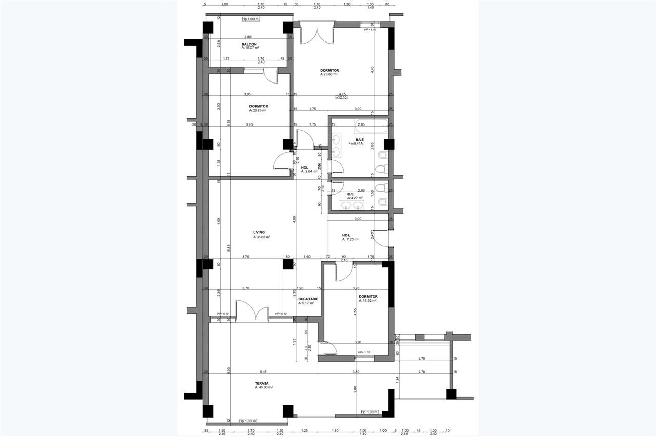 Apartament 4 camere, Tip 1, Penthouse, Balanta Residence Sibiu
