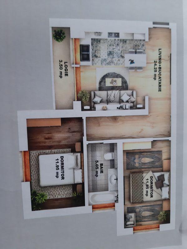 Apartament  3 camere de vanzare in Sibiu  Calea Cisnadiei