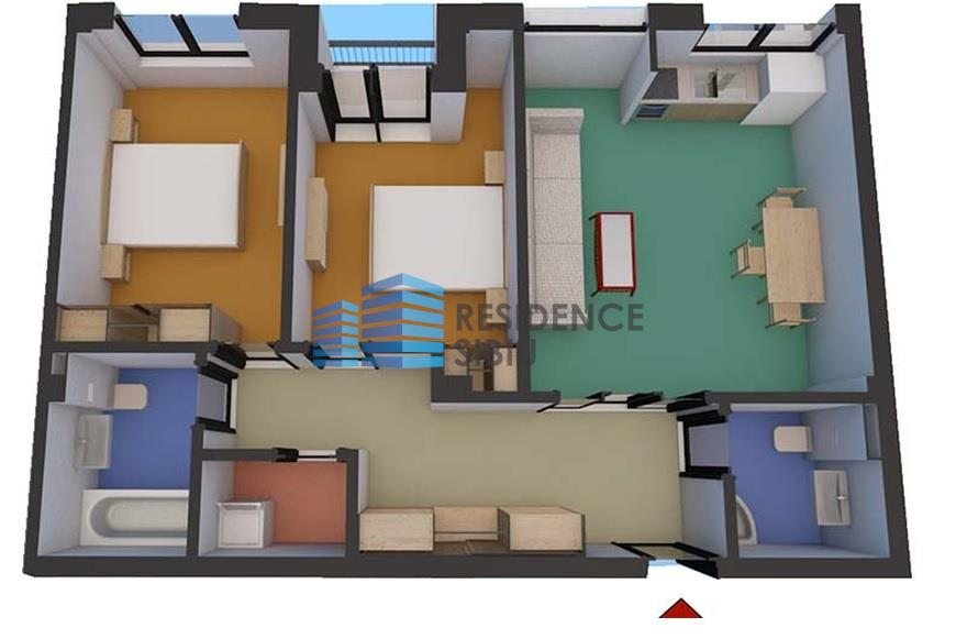 Apartament 3 camere in zona Turnisor