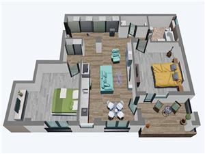 Apartament 3 camere, Tip 3, etajul 13, Balanta Residence Sibiu
