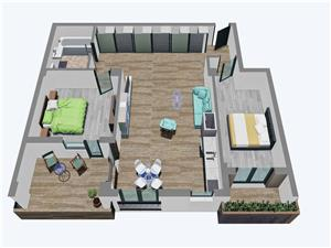 Apartament 3 camere, Etajul 1-3, Tip 2, Balanta Residence Sibiu
