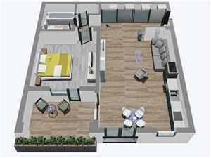 Apartamente Balanta cu 2 camere, Parter, Tip 2