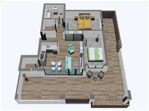 Apartament 3 camere, Tip 3, Penthouse, Balanta Residence Sibiu