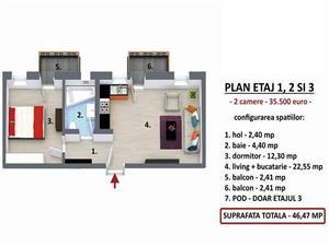 Apartament 2 camere, Calea Cisnadiei cu gradina