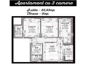 Apartament 3 camere de vanzare in Selimbar