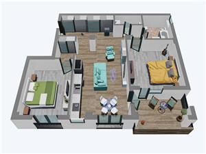 Apartament 3 camere, Balanta Residence Sibiu (Parter Tip 2)
